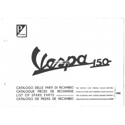 Catalogue de pièces détachées Scooter Vespa 150 VBB1T, Vespa 150 VBB2T
