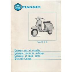 Catalogue de pièces détachées Scooter Vespa PK 50 XL mod. V5X3T, 1985