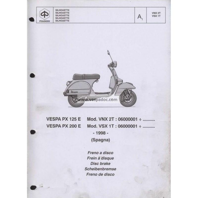 Catalogo de piezas de repuesto scooter vespa px 125 e for Catalogo piaggio vespa