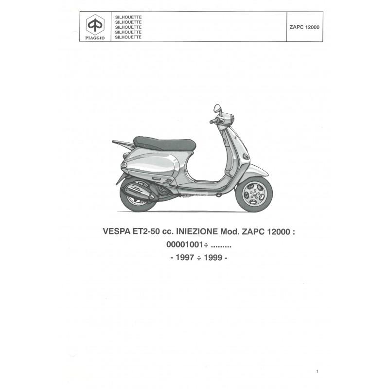 catalogue de pi u00e8ces d u00e9tach u00e9es scooter vespa et2  50 cc