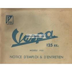 Notice d'emploi et d'entretien Scooter Acma 125 mod. 1955