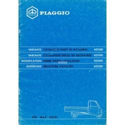 Catalogue de pieces Piaggio Ape MAX Diesel, AFD3T