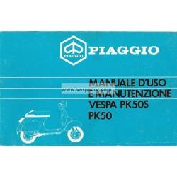 Notice d'emploi et d'entretien Vespa PK 50 mod. V5X1T, PK 50 S mod. V5X2T, Italien