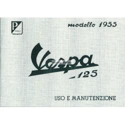 Notice d'emploi et d'entretien Vespa 125 mod. VN1T, VN2T, Italien