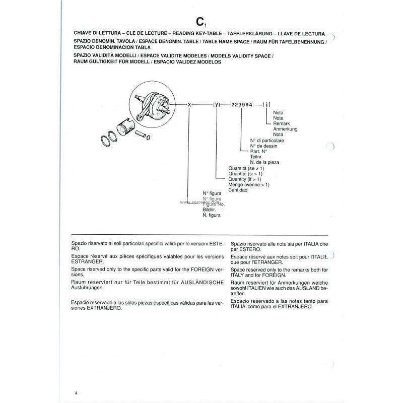 catalogue of spare parts piaggio ciao porter 3 ct31t - vespadoc