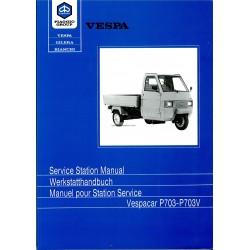 Manuel pour Station Service Piaggio Ape TM P703, Piaggio Ape TM P703V, ATM2T, ATM3T