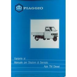 Manuel Technique Piaggio Ape TM Diesel mod.ATD1T, Italien