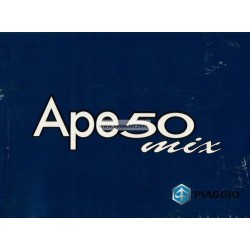 Notice Piaggio Ape 50 MIX mod. Zapc 80000...