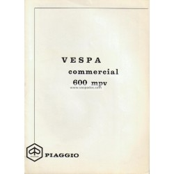 Notice d'emploi Piaggio Ape 600 mod. MPV1T