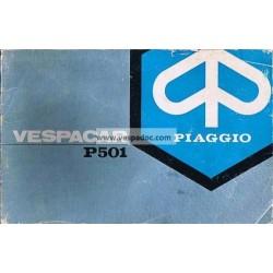 Manual de Instruções e Manutenção Piaggio Ape P501 MPR2T, Portugais