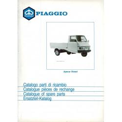 Catalogue de pieces Piaggio Ape, Apecar Diesel, AFD1T