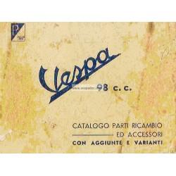 Catalogue de pièces détachées Scooter Vespa V98