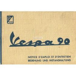 Notice d'emploi et d'entretien Vespa 90 mod. V9A1T