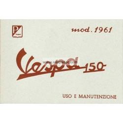 Notice d'emploi et d'entretien Vespa 150 mod. VBB1T, Italien