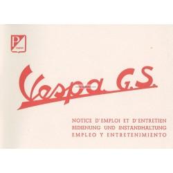 Notice d'emploi et d'entretien Vespa 150 GS mod. VS1T