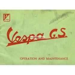 Notice d'emploi et d'entretien Vespa 150 GS mod. VS1T, VS2T, VS3T, VS4T, VS5T, Anglais