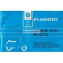 Notice d'emploi et d'entretien Vespa PK 50 XL  Mod. V5X3T, Vespa PK 125 XL  Mod. VMX6T