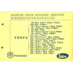 Manuel Technique Scooter Vespa 1963 - 1972