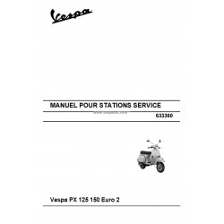 Manuel Technique Scooter Vespa PX 125, PX 150, Euro 2