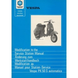 Manuel Technique Scooter Vespa PK 50 S Automatica VA51T