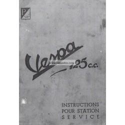 Manuel Technique d'Atelier Scooter Acma 125  Mod. 1951, 1952, 1953