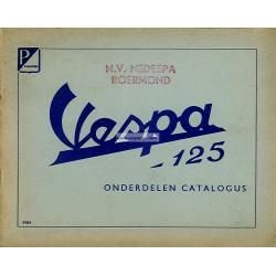 Catalogue de pièces détachées Scooter Vespa 125 VNA, mod. 1957 - 1958