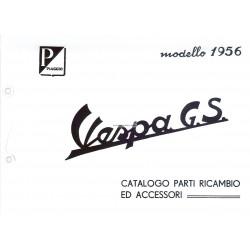 Catalogue de pièces détachées Scooter Vespa 150 GS mod. VS2T, Italien