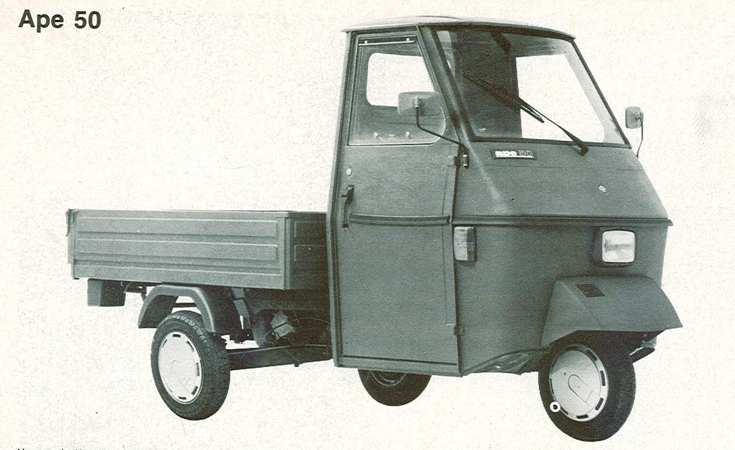 triporteur vespa piaggio ape vespacar vespadoc. Black Bedroom Furniture Sets. Home Design Ideas