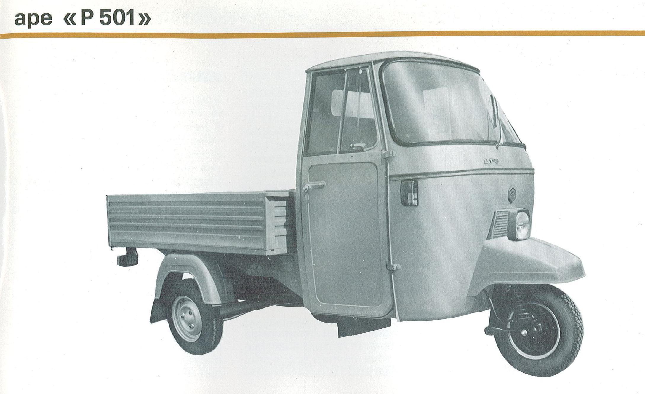 Piaggio Ape P501 MPR mod. MPR2T