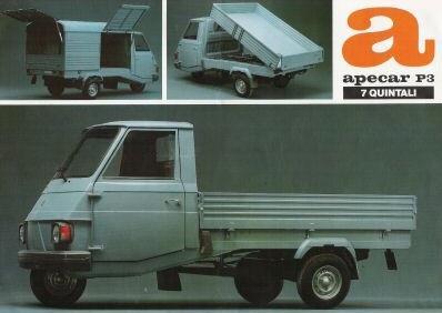 Piaggio Ape Car P3, Vespacar P3