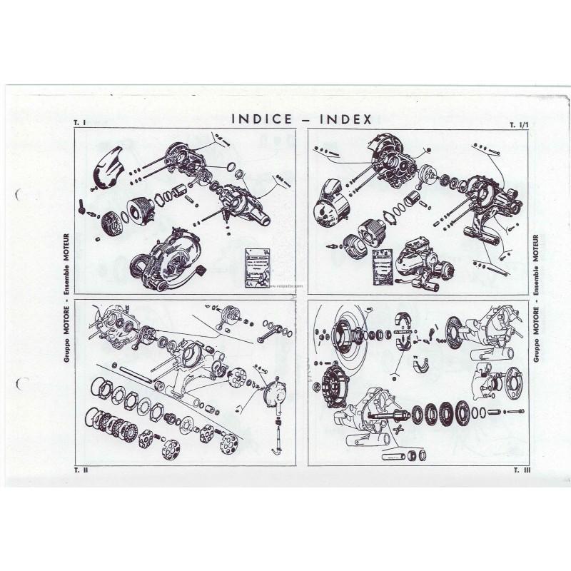 Catalogo de piezas de repuesto scooter espa 150 vespa 150 for Piezas de fontaneria catalogo