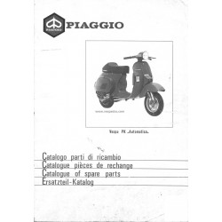 Catalogue of Spare Parts Scooter Vespa PK Automatica, Vespa PK 50 S VA51T, Vespa PK 80 S VA81T, Vespa PK 125 S VAM1T
