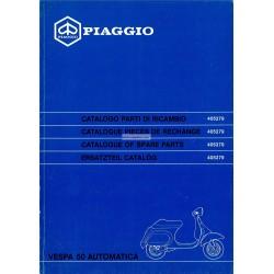 Catalogo de piezas de repuesto Scooter Vespa 50 Automatica mod. V5P2T