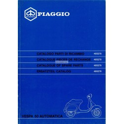 Ersatzteil Katalog Scooter Vespa 50 Automatica mod. V5P2T