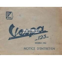 Notice d'emploi et d'entretien ACMA 125 de 1953