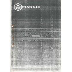 Catalogue of Spare Parts Scooter Vespa 125 Automatica mod. VVM2T