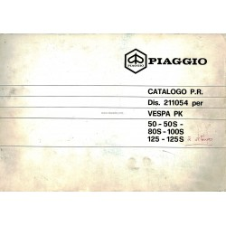 Catalogue of Spare Parts Scooter Vespa PK à Vitesses, PK 50, PK 50 S, PK 80 S, PK 100 S, PK 125, PK 125 S