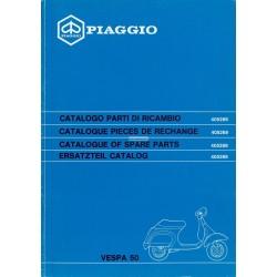 Catalogo delle parti di ricambio Scooter  Vespa 50 N mod. V5N1T,  Vespa PK 50 XL FL mod. V5N1T, 1990