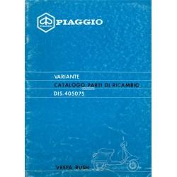 Catalogue de pièces détachées Scooter Vespa PK 50 XL Rush mod. V5X4T, 1988