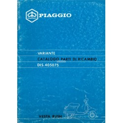 Catalogue of Spare Parts Scooter Vespa PK 50 XL Rush mod. V5X4T, 1988