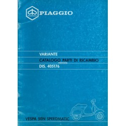 Ersatzteil Katalog Scooter Vespa 50 N Speedmatic, Vespa PK 50 N Plurimatic mod. V5P1T, 1988