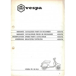 Catalogue of Spare Parts Scooter Vespa PK 50 XLS Plurimatic mod. VAS1T, 1987