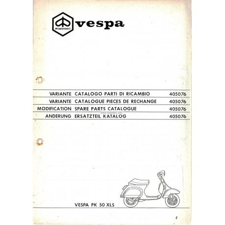 Catalogue of Spare Parts Scooter Vespa PK 50 XLS Plurimatic mod. VAS1T, 1987