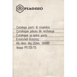 Catalogue of Spare Parts Scooter Vespa PX 125 T5 mod. VNX5T