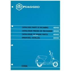 Catalogo delle parti di ricambio Scooter Vespa COSA 1992 / 1995