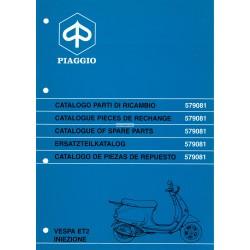 Catalogo delle parti di ricambio Scooter Vespa ET2, 50 cc