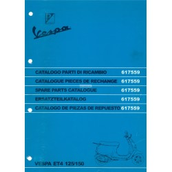 Catalogue of Spare Parts Scooter Vespa ET4 125 cc, Vespa ET4 150 cc
