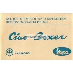 Notice d'emploi Piaggio Ciao, Piaggio Boxer