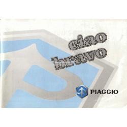 Operation and Maintenance Piaggio Ciao MIX, Piaggio Bravo, 1998