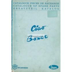 Catalogo delle parti di ricambio Piaggio Ciao, Piaggio Boxer, 1967